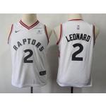 Raptors #2 Kawhi Leonard White Youth Nike Swingman Jersey