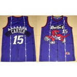NBA Toronto Raptors Vince Carter #15 Purple kids jersey