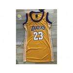 Women NBA Lakers #23 Lebron James Yellow Jersey