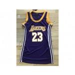 Women NBA Lakers #23 Lebron James Purple Jersey