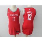Rockets #13 James Harden Red Women Nike Swingman Jersey