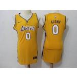 Lakers #0 Kyle Kuzma Yellow Women Nike Swingman Jersey