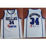 NBA Hellas Antetokounmpog. #34 2019 FIBA Basketball World Cup White jersey