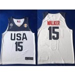 NBA USA Walker #15 2019 FIBA Basketball World Cup White jersey