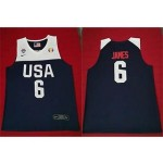 NBA USA James #6 2019 FIBA Basketball World Cup navy blue jersey
