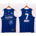 NBA 2021 All Star Game #7 Kevin Durant Blue Swingman Jersey