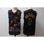NBA 76ers #3 Allen Iverson Big Slam Black Retro limited edition Jersey