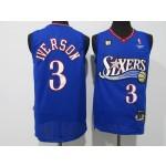 NBA Philadelphia 76ers #3 Allen Iverson blue 2020-21 Nike Swingman Jersey