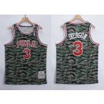 NBA Philadelphia 76ers #3 Allen Iverson Green Camo 1996-97 Hardwood Classics Jersey