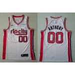 NBA Portland Trail Blazers #00 Carmelo Anthony White 2020 City Jersey