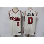 NBA Portland Trail Blazers #0 Damian Lillard Cream 2020 City Edition Nike Authentic Jersey
