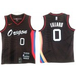 NBA Portland Trail Blazers #0 Damian Lillard Black 2020-21 City Edition Nike Swingman Jersey