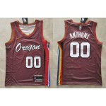 NBA Portland Trail Blazers #00 Carmelo Anthony Red 2020-21 City Edition Swingman Jersey