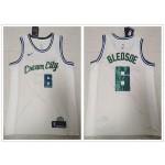 NBA Milwaukee Bucks #6 Eric Bledsoe Cream 2020 City Edition Nike Swingman Jersey