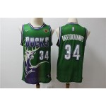 NBA Milwaukee Bucks #34 Giannis Antetokounmpo Green Nike Retro Jersey