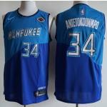 NBA Milwaukee Bucks #34 Giannis Antetokounmpo blue 20-21 new Jersey