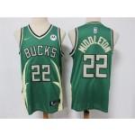 Milwaukee Bucks #22 Khris Middleton 2020-21 Green Earned Edition Swingman Jersey