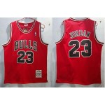 NBA Chicago Bulls #23 Michael Jordan Red 1997-98 Hardwood Classics Jersey