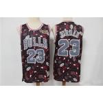 Bull Jordan #23 Black Tear Up Pack Swingman Jersey