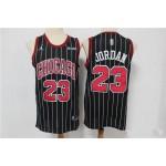 Bulls #23 Michael Jordan Black Stripe 2020 Jersey