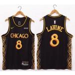 Bulls Lavine #8 Black 20-21 City Jersey