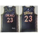 Bulls #23 Michael Jordan Black 2021 City Edition Nike Swingman Jersey