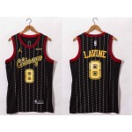 NBA Bulls #8 Zach Lavine Black 20-21 Jersey
