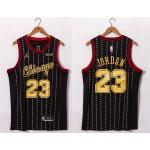 NBA Bulls #23 Michael Jordan Black 20-21 Jersey