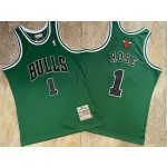 NBA Chicago Bulls #1 Derrick Rose Green 2008-09 Hardwood Classics Jersey