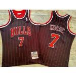 NBA Chicago Bulls #7 Toni Kukoc Black Stripe 1995-96 Hardwood Classics Jersey