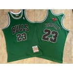 NBA Chicago Bulls #23 Michael Jordan Green 1997-98 Hardwood Classics Jersey