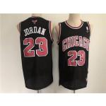 Men's Chicago Bulls #23 Jordan Black Throwback 2021 Nike NBA Jersey