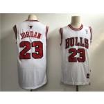 Men's Chicago Bulls #23 Jordan White Throwback 2021 Nike NBA Jersey