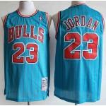 NBA Bulls #23 Michael Jordan Blue 1995-96 Hardwood Classics Swingman Jersey