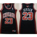 Women Chicago Bulls #23 Michael Jordan Black Swingman Jersey