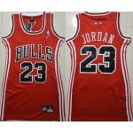 Women Chicago Bulls #23 Michael Jordan Red Swingman Jersey