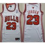 Women Chicago Bulls #23 Michael Jordan White Swingman Jersey