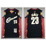 NBA Cleveland Cavaliers #23 Lebron James Navy 2008-09 Hardwood Classics Jersey