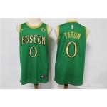 NBA Boston Celtics #0 Jayson Tatum Green Gold 2019-20 City Edition Nike Swingman Jersey