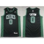 Men's Boston Celtics #0 Jayson Tatum Black 2021 Nike Swingman Stitched NBA Jersey