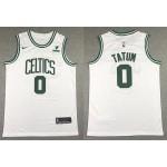 Men's Boston Celtics #0 Jayson Tatum White 2021 Nike Swingman Stitched NBA Jersey