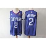 NBA Los Angeles Clippers #2 Kawhi Leonard Blue Nike Swingman Jersey