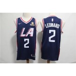 NBA Los Angeles Clippers #2 Kawhi Leonard Navy Blue City Edition Nike Swingman Jersey