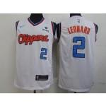 NBA Los Angeles Clippers #2 Kawhi Leonard Retro white Nike Jersey