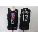 NBA Los Angeles Clippers #13 Paul George Black Nike Jersey