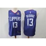 NBA Los Angeles Clippers #13 Paul George Blue Nike Swingman Jersey