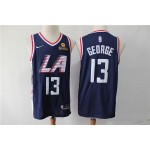 NBA Los Angeles Clippers #13 Paul George Navy Blue City Edition Nike Swingman Jersey