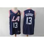 NBA Los Angeles Clippers #13 Paul George Navy Blue City Edition Nike Swingman Jersey