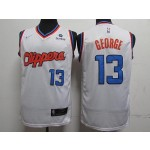 NBA Los Angeles Clippers #13 Paul George Retro white Nike Jersey
