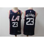 NBA Los Angeles Clippers #23 Lou Williams Navy Blue City Edition Nike Swingman Jersey
